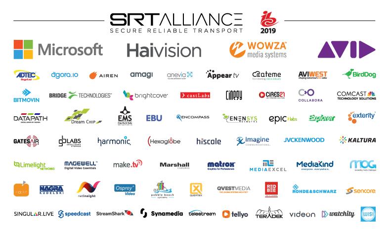 SRT Alliance Members at IBC
